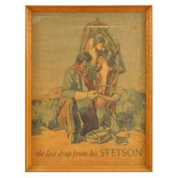 Early Stetson Hat Advertising Poster