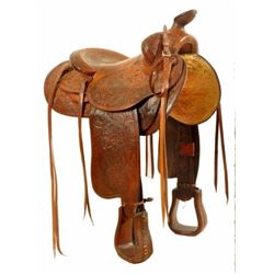Fully Carved Edward H. Bohlin Stock Saddle