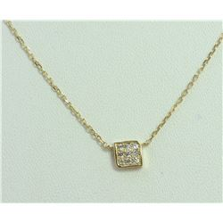 14K YELLOW GOLD PENDANT WITH CHAIN 1.92g/Diamond 0.09ct