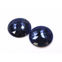 24 ct & up Natural Sapphire Slice Rose Cut Loose Stone 2Pcs