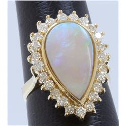 14K:6.64g/Diamond:0.98ct/Opal:3.4ct