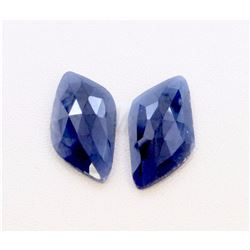 13 ct & up Natural Sapphire Slice Rose Cut Loose Stone 2Pcs