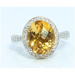 14K:6.5g/Diamond:0.56ct/Citrine:3.36ct