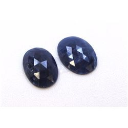 20 ct & up Natural Sapphire Slice Rose Cut Loose Stone  2Pcs