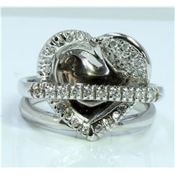 14K WHITE GOLD RING 7.41GRAM / DIAMOND 0.41CT GH COLOR Si CLARITY