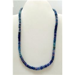 68 ct & up Opal Smooth Rondelle Fire Beaded Necklace
