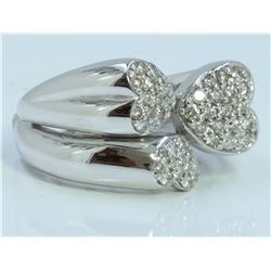 14K WHITE GOLD RING 10.00 GRAM  DIAMOND 0.22CT