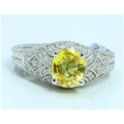 YELLOW SAPPHIRE OVAL 1.91CT