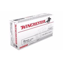 10 BOXES Winchester Ammo USA9MM Best Value USA 9mm FMJ 124 GR(500 ROUNDS) .020892212312