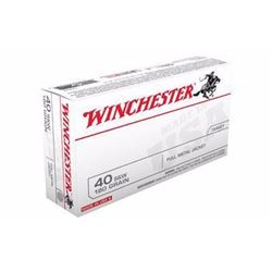 10 BOXES WINCHESTER USA 40SW 180 GR FMJ BEST VALUE (500 ROUNDS) .020892203006