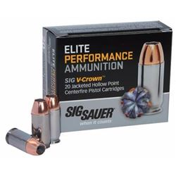 10 BOXES Sig Sauer E38SU1-20 V-Crown 38 Super +P 125GR JHP (200 ROUNDS) 798681522439