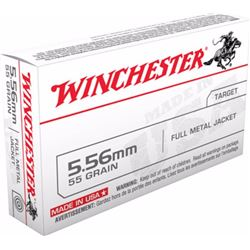 10 BOXES Winchester 223 Remington/5.56 NATO FMJ 55GR (500 ROUNDS) .020892201880