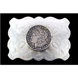Navajo 1896 Morgan Silver Dollor Belt Buckle