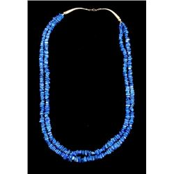 Navajo Lapis Lazuli Nugget Sterling Necklace