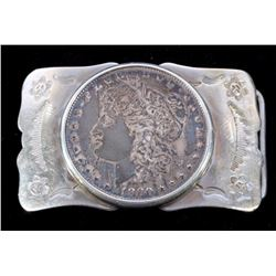 Navajo 1880 Morgan Silver Dollar Belt Buckle