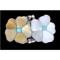 Zuni Turquoise & Mother of Pearl Sterling Ring