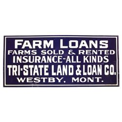 Westby Montana Farm Loans Sign Early 1900