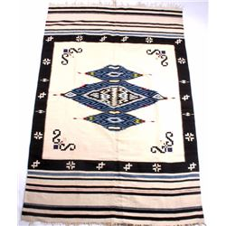 Southwest Indian Design Fringed Rug
