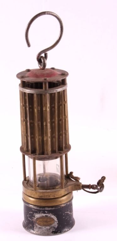 Antique Wolf Safety Mining Lamp from Butte Montana