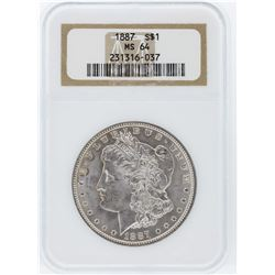 1887 NGC MS64 Morgan Silver Dollar