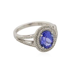 14KT White Gold 1.95ct Tanzanite and Diamond Ring