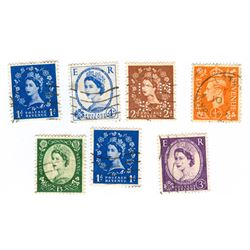 Great Britain Postage Stamps Lot of 7