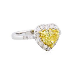 18KT White Gold 2.21ctw Fancy Yellow Diamond Ring