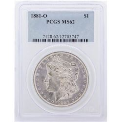 1881-O Morgan Silver Dollar Coin PCGS Graded MS62