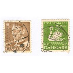 Denmark Postage Stamps Lot of 2