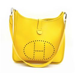 Authentic Hermes Evelyne I GM Yellow Epson