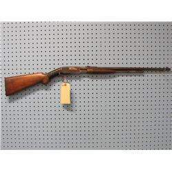 Browning; Trombone Model: Pump Action; .22 LR; Open Sights; Stock taped up; Tube Magazine; Ser # 382