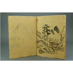Chinese WC Landscape Handmade Sketchbook Luo Pufu