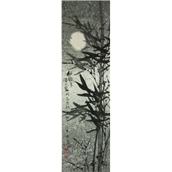 WC Bamboo Scroll Painting Wang Chengxi b. 1940