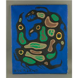 Norval Morrisseau Acrylic on Canvas 1932-2007