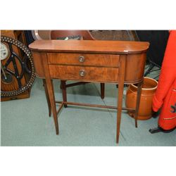Mid 20th century two drawer flat to the wall console table