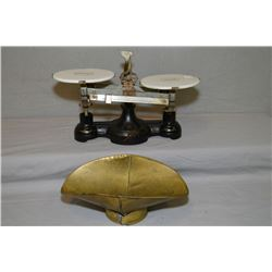 Antique Cenco balance scale with porcelain trays