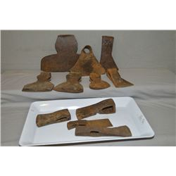 Selection of vintage and antique axe heads