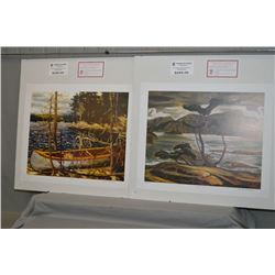 "Two unframed Group of Seven limited edition prints including ""Canoe"" by Tom Thomson 734/777 and ""Ben"