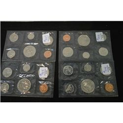 Four mint sealed Canadian decimal sets including 1970, 1972, 1973 and 1874