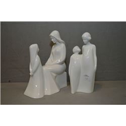 "Two Royal Doulton figurines including ""Mother and Daughter"" HN2841 and ""Brother and Sister"" HN3460"