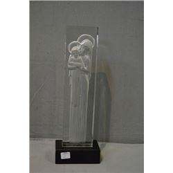 "Vintage French R. Lalique ""Vierge a L'enfant statue 1217 circa 1934, approximately 15"" in height inc"