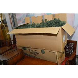 Two large boxes of retail display Christmas garland