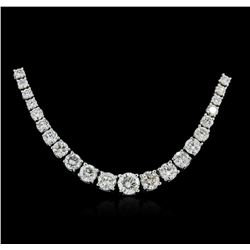 18KT White Gold 6.21ctw Diamond Necklace