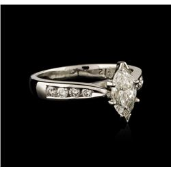 Platinum 0.92ctw Diamond Ring