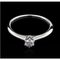 Tiffany & Co. 0.19ct Diamond Solitaire Ring - Platinum