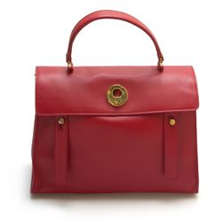 YSL Saint Laurent Red Medium Muse Two Muse 2 Bag Red Leather