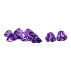 10.6ct Heart Cut Amethyst Parcel