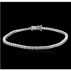18KT White Gold 2.51ctw Diamond Tennis Bracelet