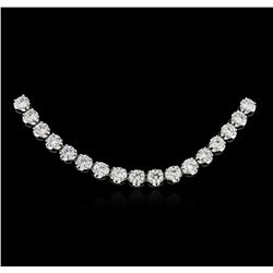 18KT White Gold 16.50ctw Diamond Necklace