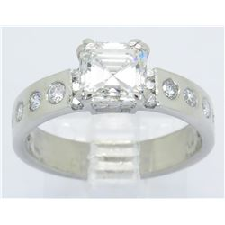 GIA Cert 1.66ctw Diamond Ring - Platinum